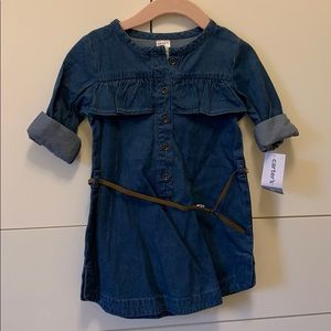 Toddler jean dress with belt